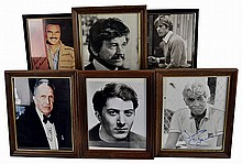 (6) Autographed Photos: Redford, Hoffman, Etc...