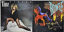 PAIR of Autographed Album Covers: Turner & Bowie