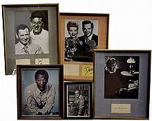 (5) Autographs: Cosby, Lucy & Desi, Hope, Etc...