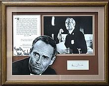 Framed Fonda Family Autographs