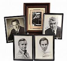 (5) Autographed Photos: Douglas, Heston, Etc...