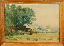 California Plein Air Watercolor Painting