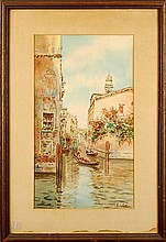 Gino Colle Venetian Watercolor Painting