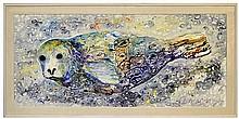 Seal Painting by Alaskan Artist Alvin Eli Amason