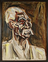Old Negro Portrait Painting Pre-Execution 1962