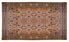 Large Persian Wool Rug, Hand Knotted, 17' x 10'.5