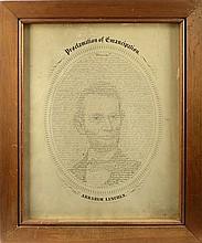 Emancipation Proclamation Engraving/Portrait