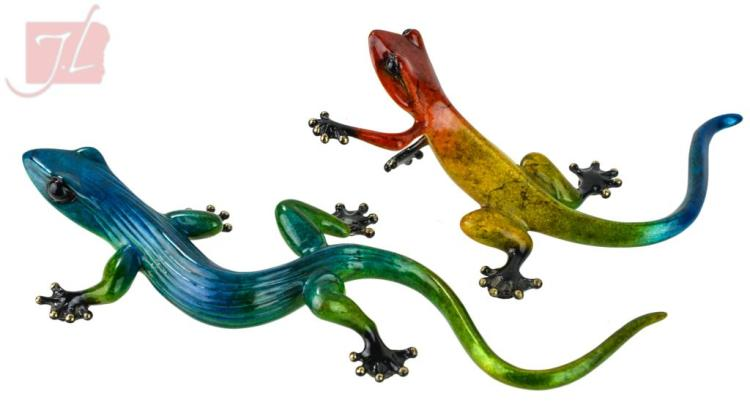 Tim Frogman Cotterill (1950-) Ltd Ed Gecko Pair