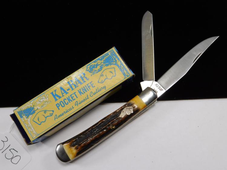 K-Bar Two-Bladed Folding Knife