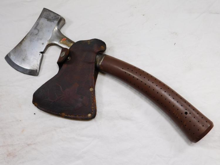 Antique Buck Brothers Hatchet With Sheath