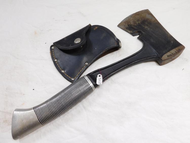 Antique Western Cutlery Hatchet With Sheath