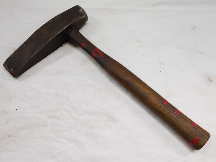Antique Wedge-Shaped Splitting Axe w Hammerhead