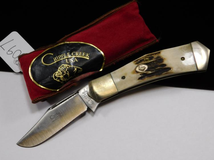 Cripple Creek Bone Handle Folding Pocket Knife
