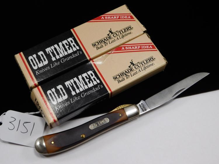 2 Schrade Old-Timer Single Locking Blade Knifes