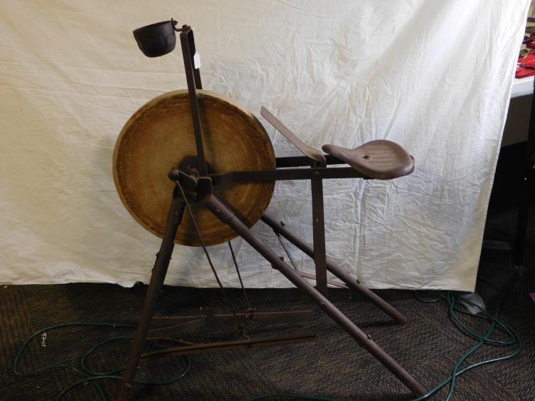 Rare Vintage Pedal Grinding Stone Honing Wheel Primitive Sharpener