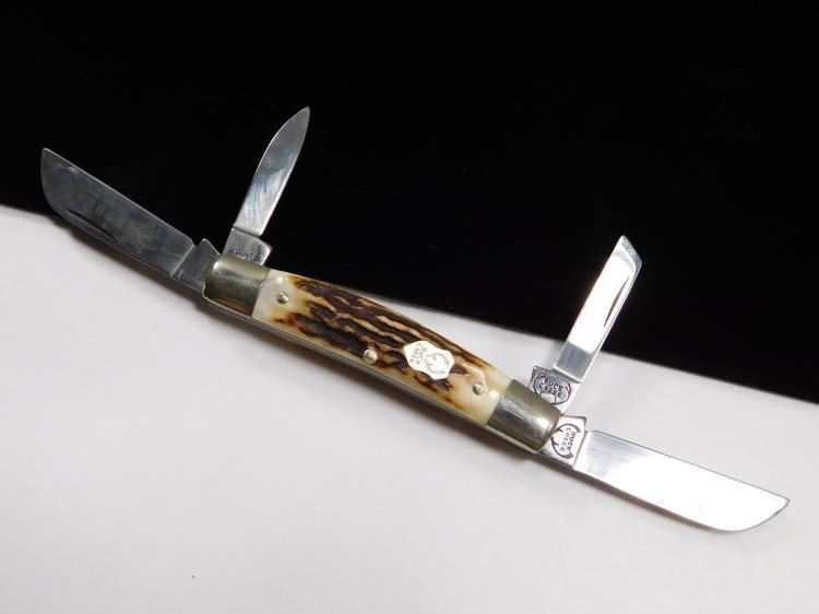 Boker Solingen Germany Dyed Stag Horn Folding Pocket Knife