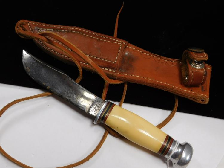 Vintage Jean Case Cutco Fixed Blade Clip Point Knife With Sheath