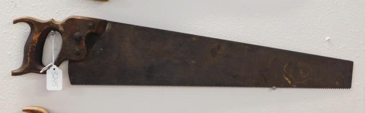 Vintage Wood Handled Saw