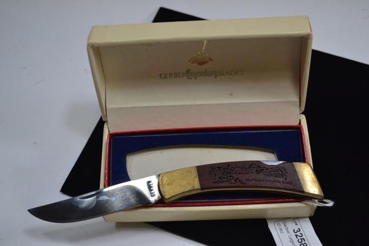 Gerber Legendary Blades Laser- Cut American Bicentennial Commemorative Knife