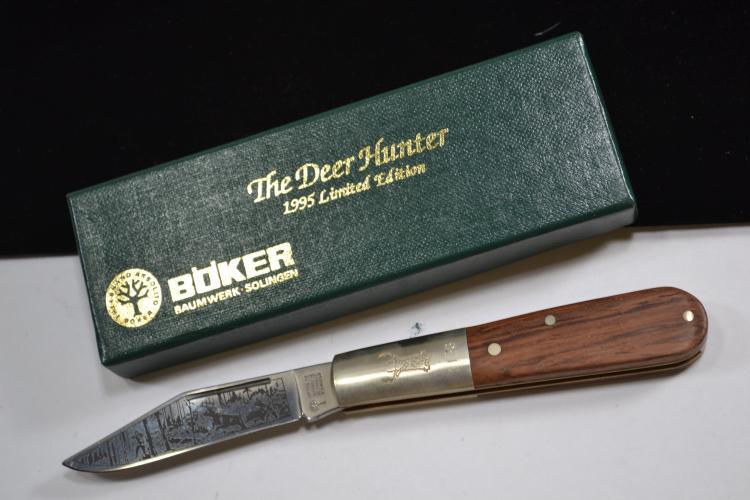 Boker Deer Hunter 1995 Limited Edition Handled Folding Pocket Knife