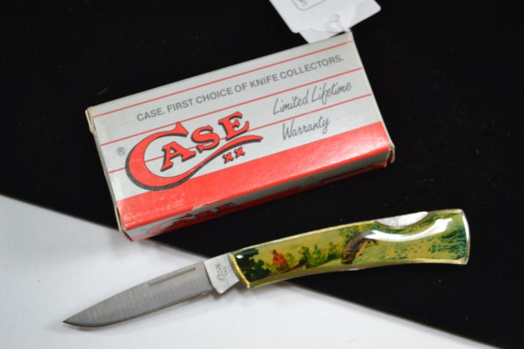 Case XX Fishing Scene Handle Pocket Knife