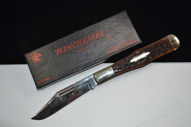 Winchester 1920 Folding Jigged Bone Pocket Knife