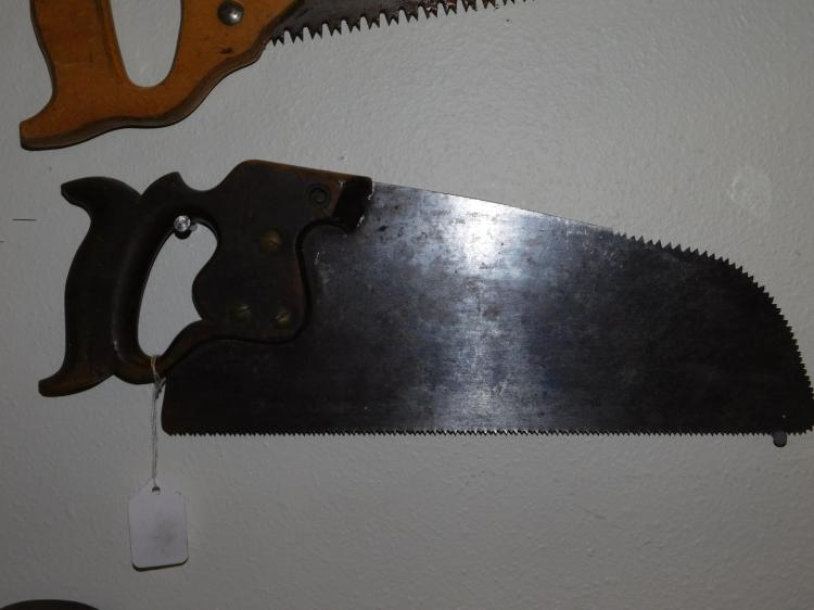 Antique Henry Disston And Sons Cross Cut Rounded Blade Saw
