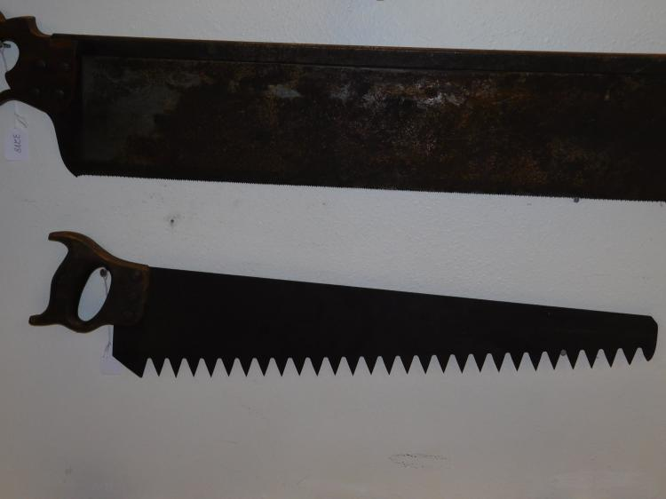 Antique Large Tooth Crosscut Saw