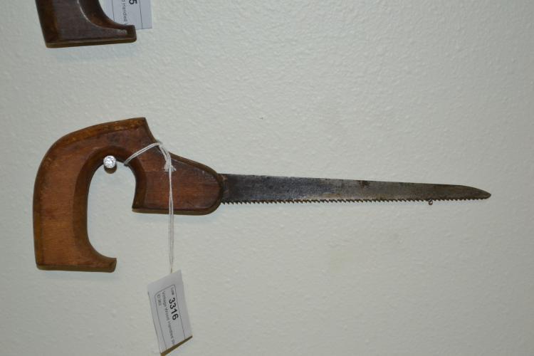 Antique Wood Handled Wood Saw