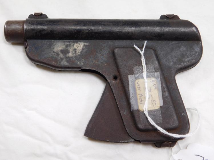 Antique Pressed Metal Water Pistol