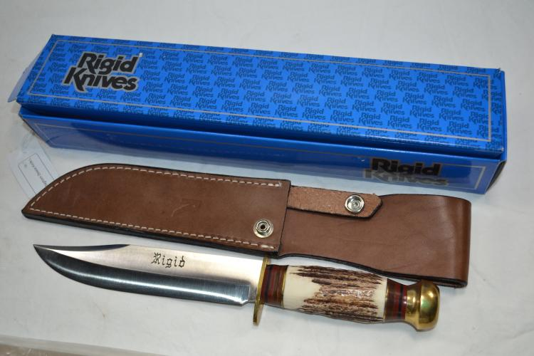 Rigid R03 A Trust For Italy Staghorn Bowie Knife Leather Sheath