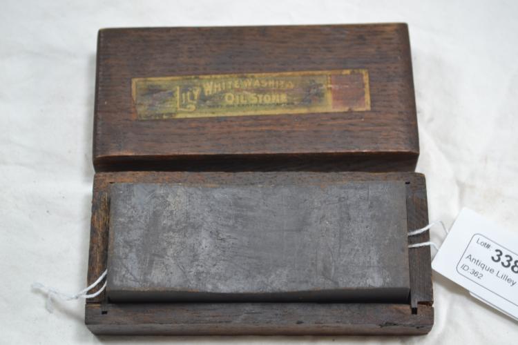 Antique Lilley White Washita Oil Stone Pipe Trademarked