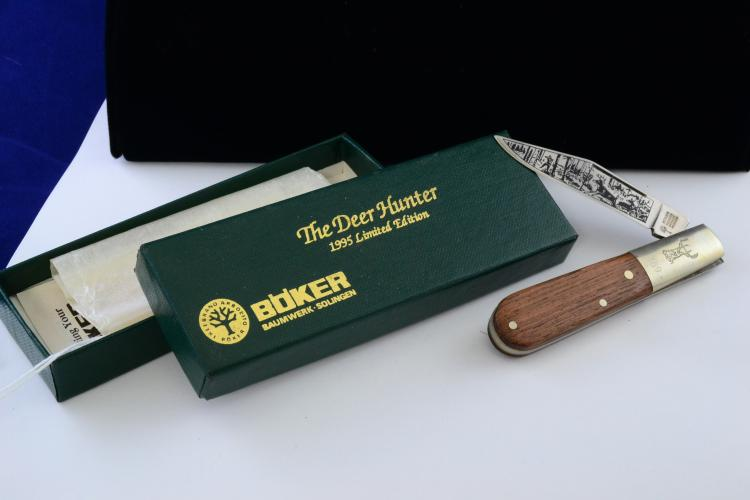 Boker Deer Hunter 1995 Limited Edition Handled Folding Pocket Knife