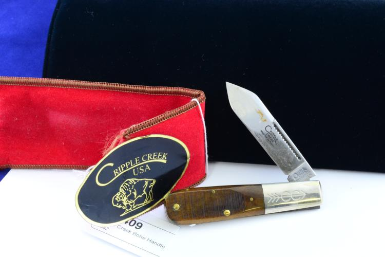 Cripple Creek Bone Handle Folding Pocket