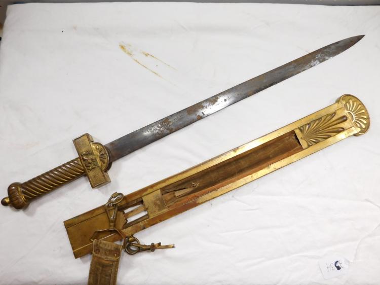 Antique Brass Movie Prop Sword