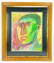 Tim Chess, Portrait Pastel on Paper