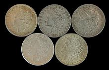 5 Circulated Morgan Silver Dollar #2