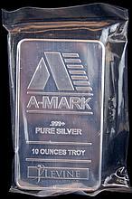 10 Troy Oz. A-Mark .999 Fine Silver Bullion
