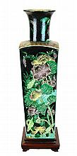 18th/19th Century Chinese Famille Noire Square Vase