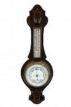 English Wall Barometer / Thermometer