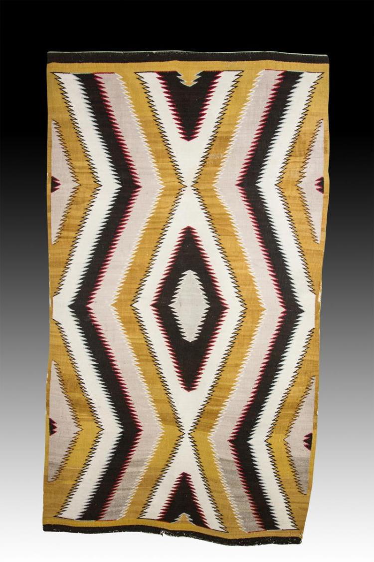 Navajo Red Mesa Eye Dazzler Rug