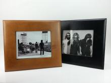 2pc. Leather Frames & Woodstock Photo