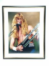 Dave Mustaine Framed Photo