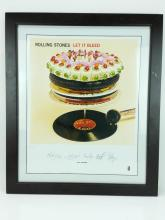 Rolling Stones Let It Bleed Cover Lithograph