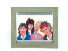 Rolling Stones Caricature Print