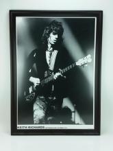 Framed Keith Richards Poster