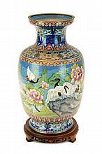 Vintage Chinese Brass Cloisonne Vase