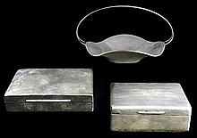 3 Pc Vintage Sterling Silver & Silver Plate