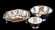 3 Pcs. Silver Plate Bowl Lot