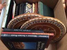 Book & Wood Wall Art Box Lot